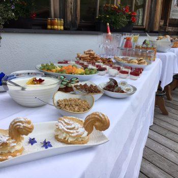 Hochzeit am Berg, Hochzeitsbuffet Tirol